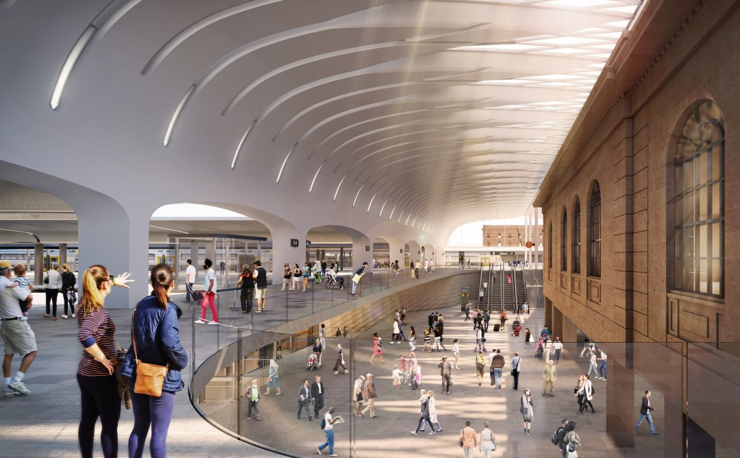 John McAslan + Partners and Woods Bagot are lead designers on Sydney's Central Station