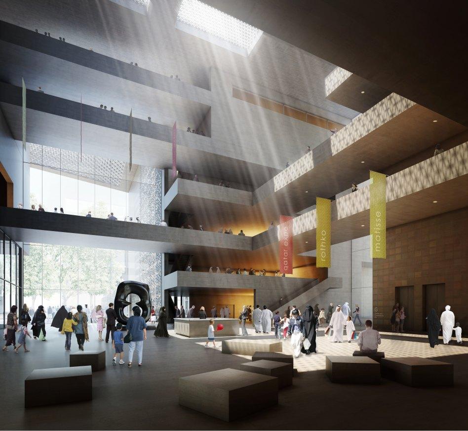 John McAslan + Partners. Cultural Forum. Interior.