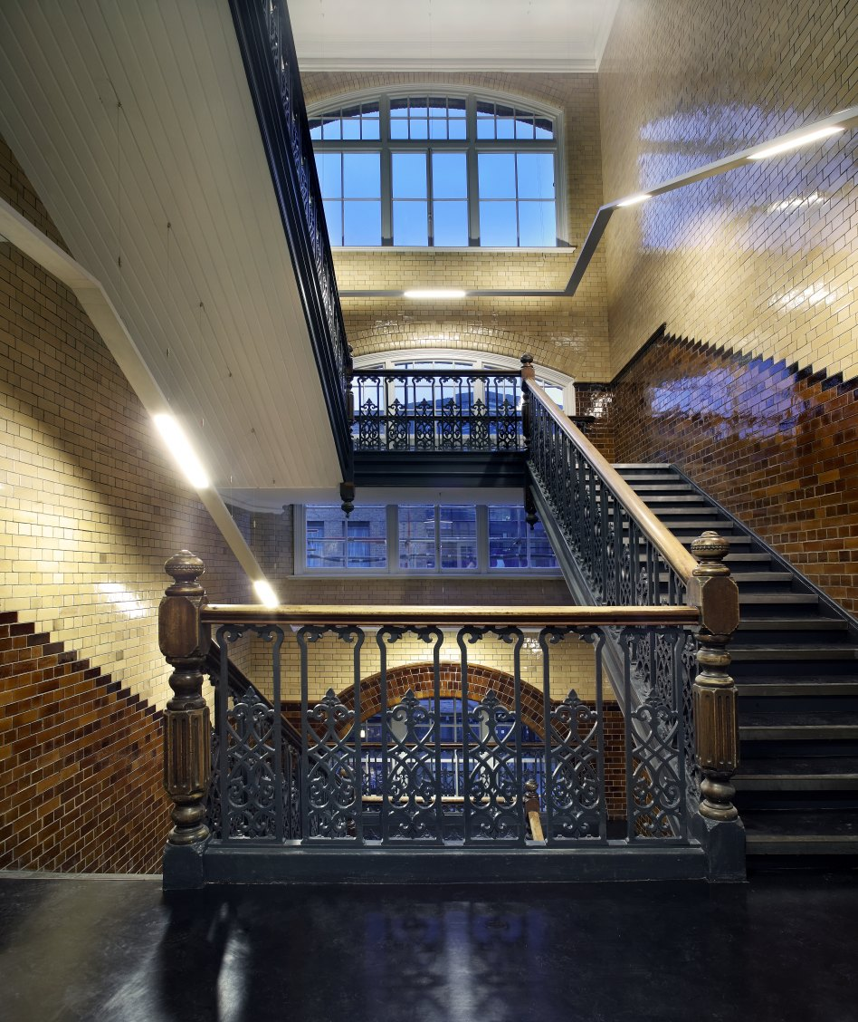 John McAslan + Partners. King's Cross Station. Balcony.