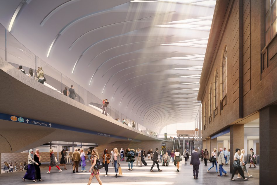Visualisation of new Central Station