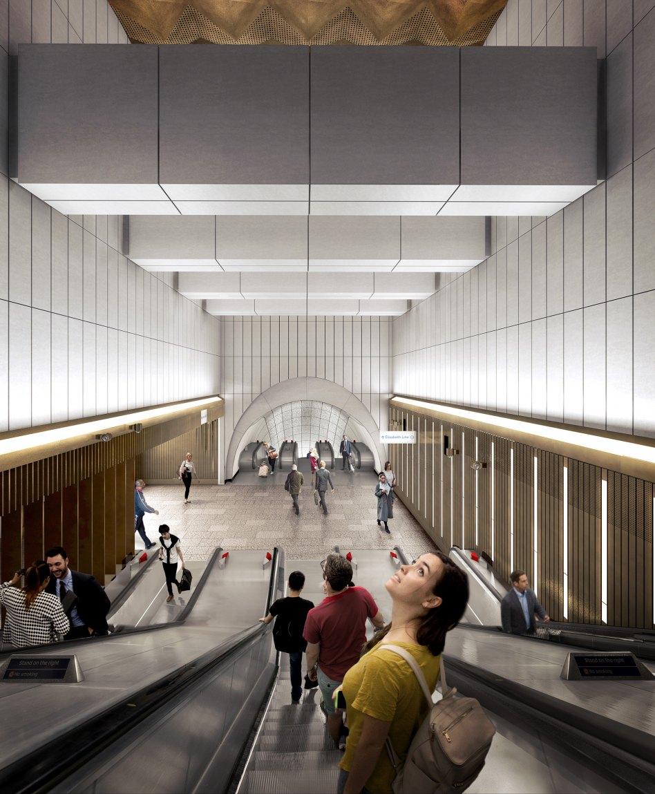 John McAslan + Partners. Crossrail Bond Street. External View.