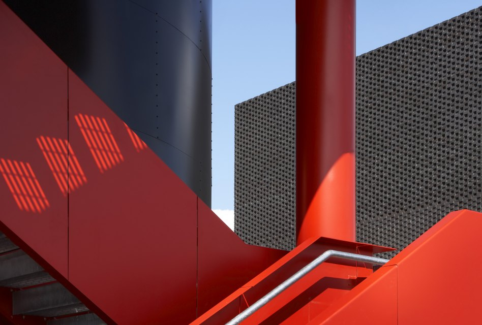 John McAslan + Partners. Olympic Energy Centres. Detail of Facade.