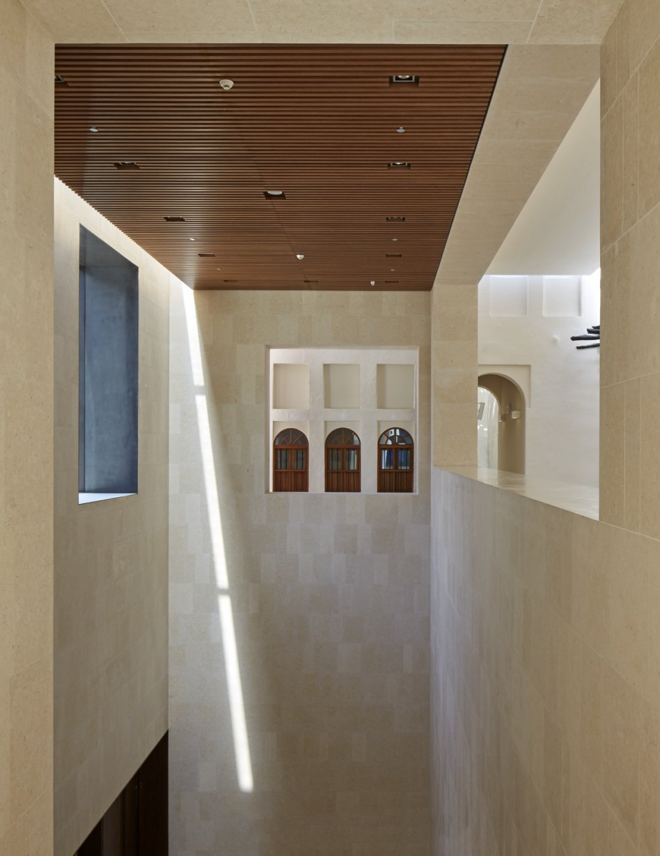 John McAslan + Partners. Msheireb Museums. Bin Jelmood House. Detail of Facade.