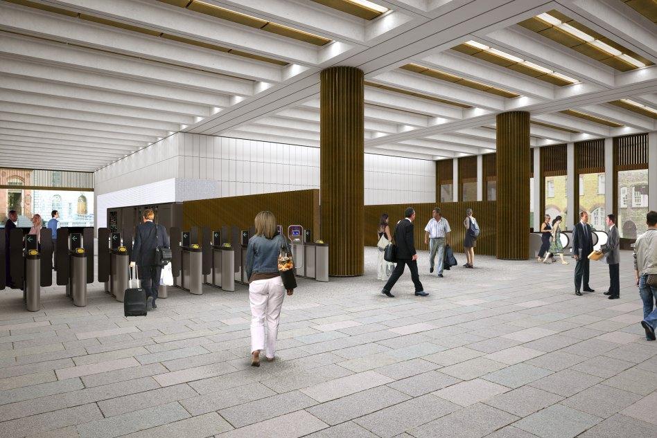 John McAslan + Partners. Crossrail Bond Street. Platform.