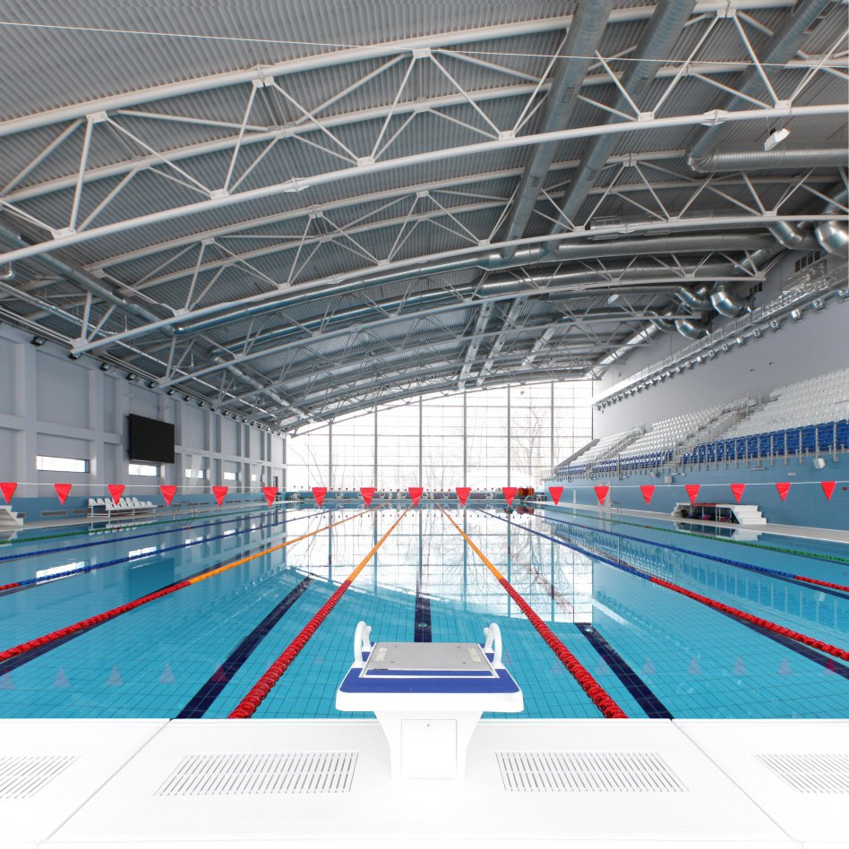 John McAslan + Partners. Olympia Park. Swimming Pool.