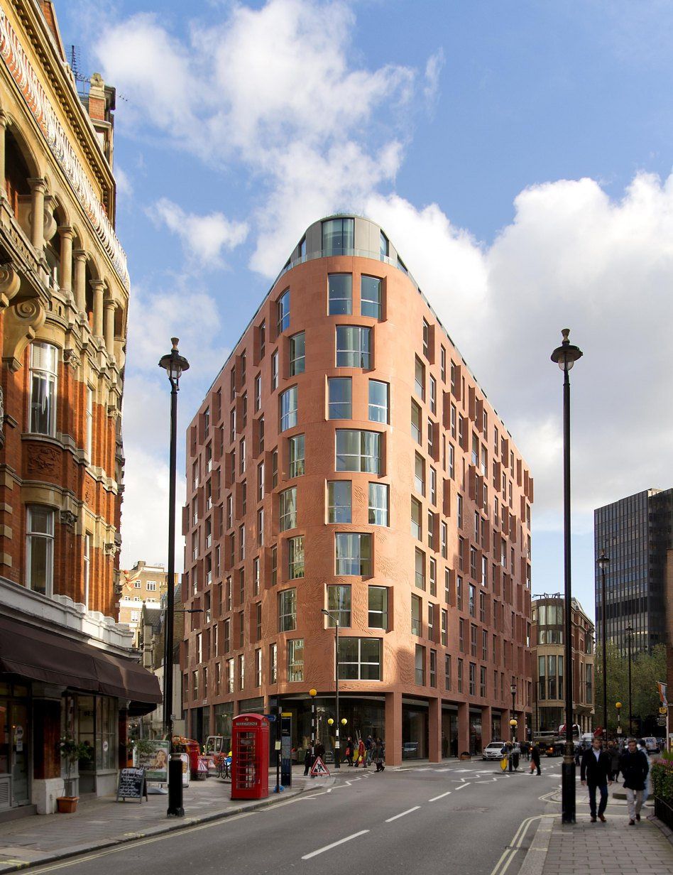 John McAslan + Partners. Wellington House. Corner with Petty France.