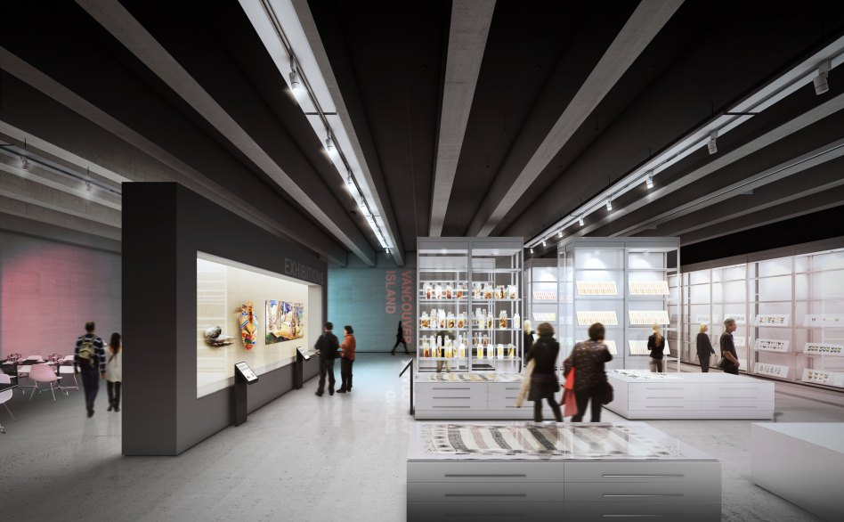 John McAslan + Partners. Royal British Columbia Museum. Artist's Impression. Interior.