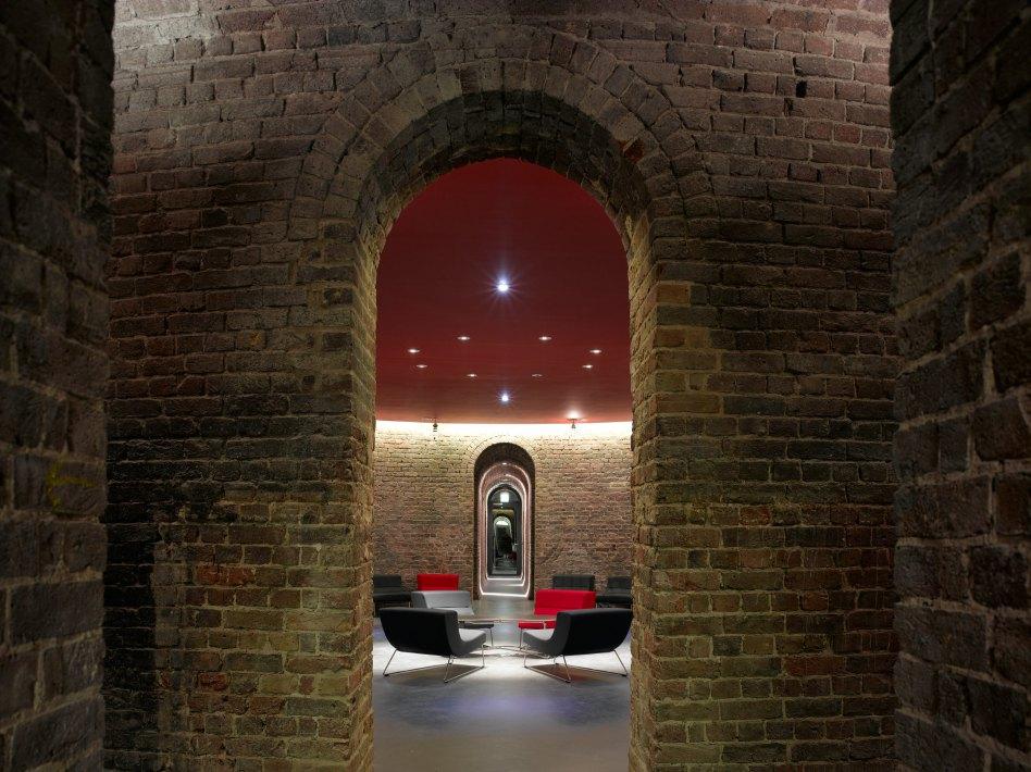 John McAslan + Partners. Roundhouse. Hallway.