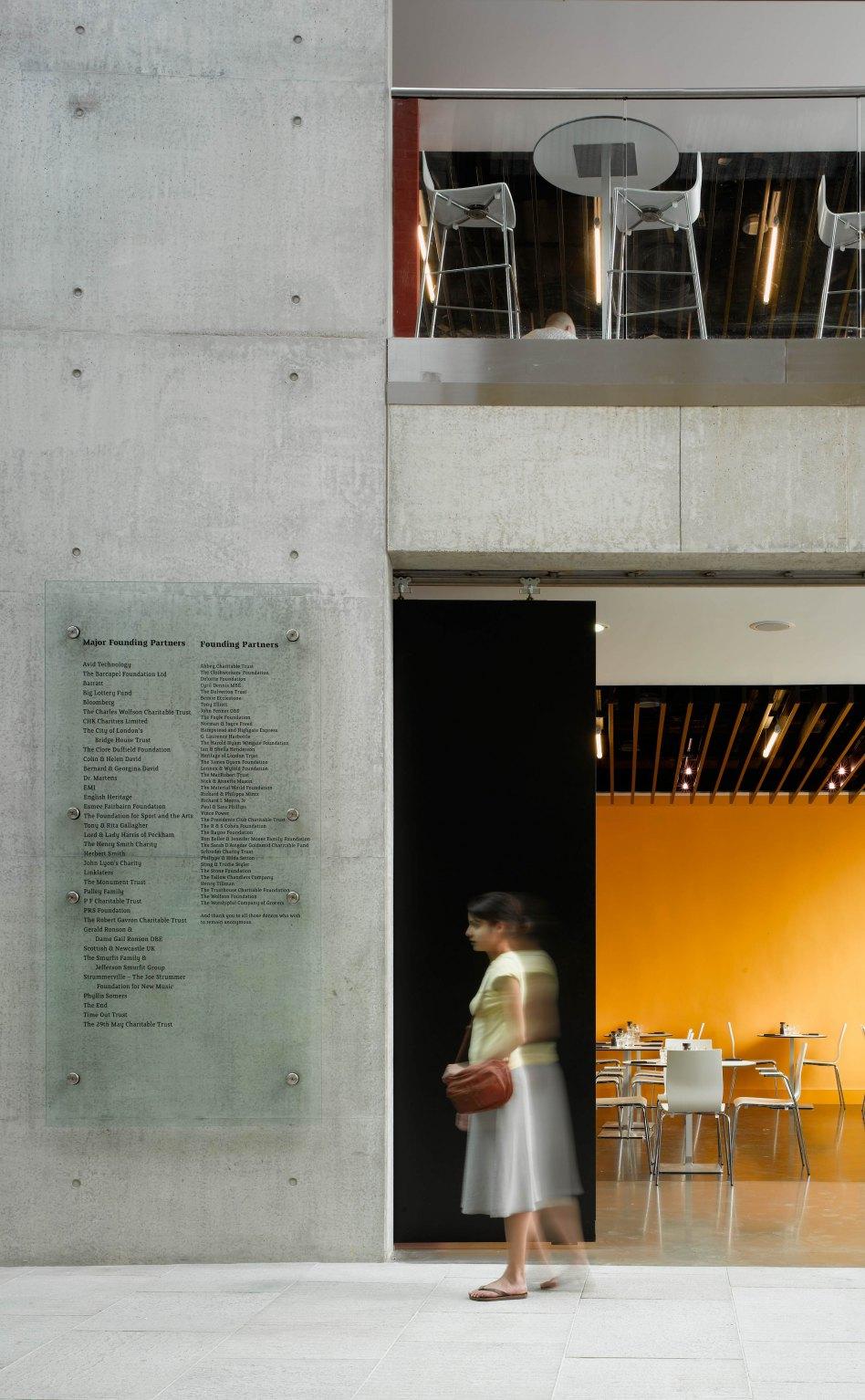 John McAslan + Partners. Roundhouse. Cafe.