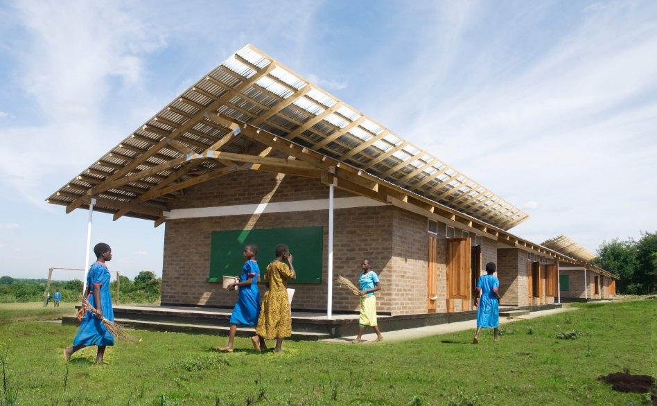 John McAslan + Partners. Malawi Schools. External View.